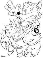 http://drewelbi.deviantart.com/art/Crash-and-a-Titan-72189150