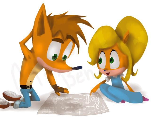 http://maria-ben.deviantart.com/art/Crash-And-Coco-477431794