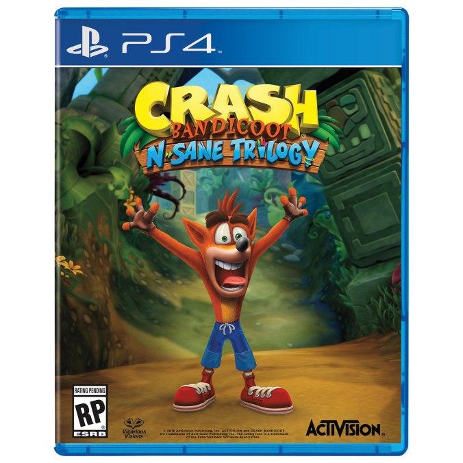 Image result for crash bandicoot n sane trilogy cover