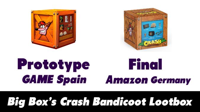 crash bandicoot prototype final lootbox for big box revealed