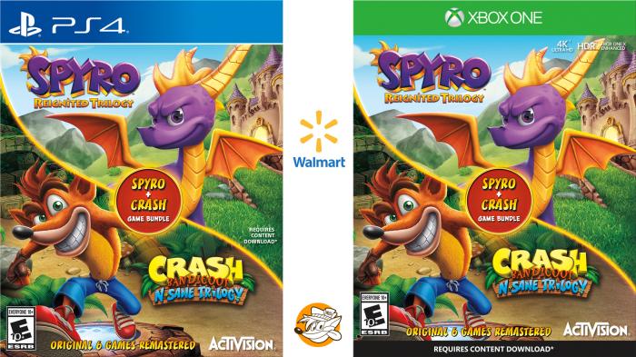 "LINKED] Update 4: Walmart (US) has ""Spyro + Crash Game"