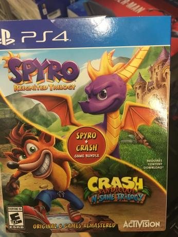 "UPDATE 6] ""Spyro + Crash Game Bundle"" now shipped to retailers (Best"
