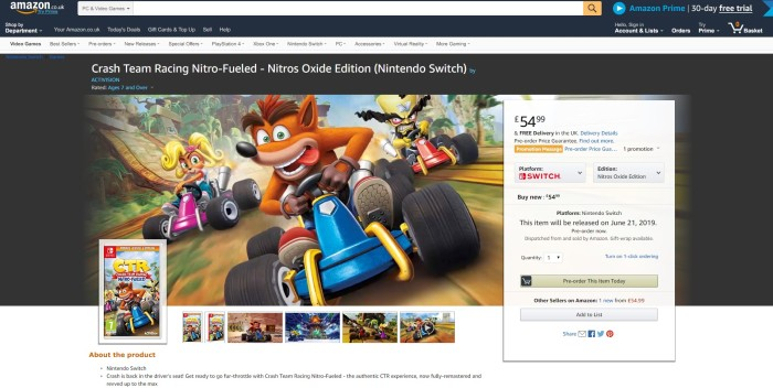 crash team racing nitro fueled oxide edition physical