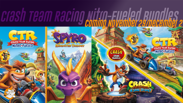Several Retailers List Crash Bandicoot 2pk Game Bundle Of N Sane Trilogy And Crash Team Racing Nitro Fueled Coming December 2 2019 Crashy News