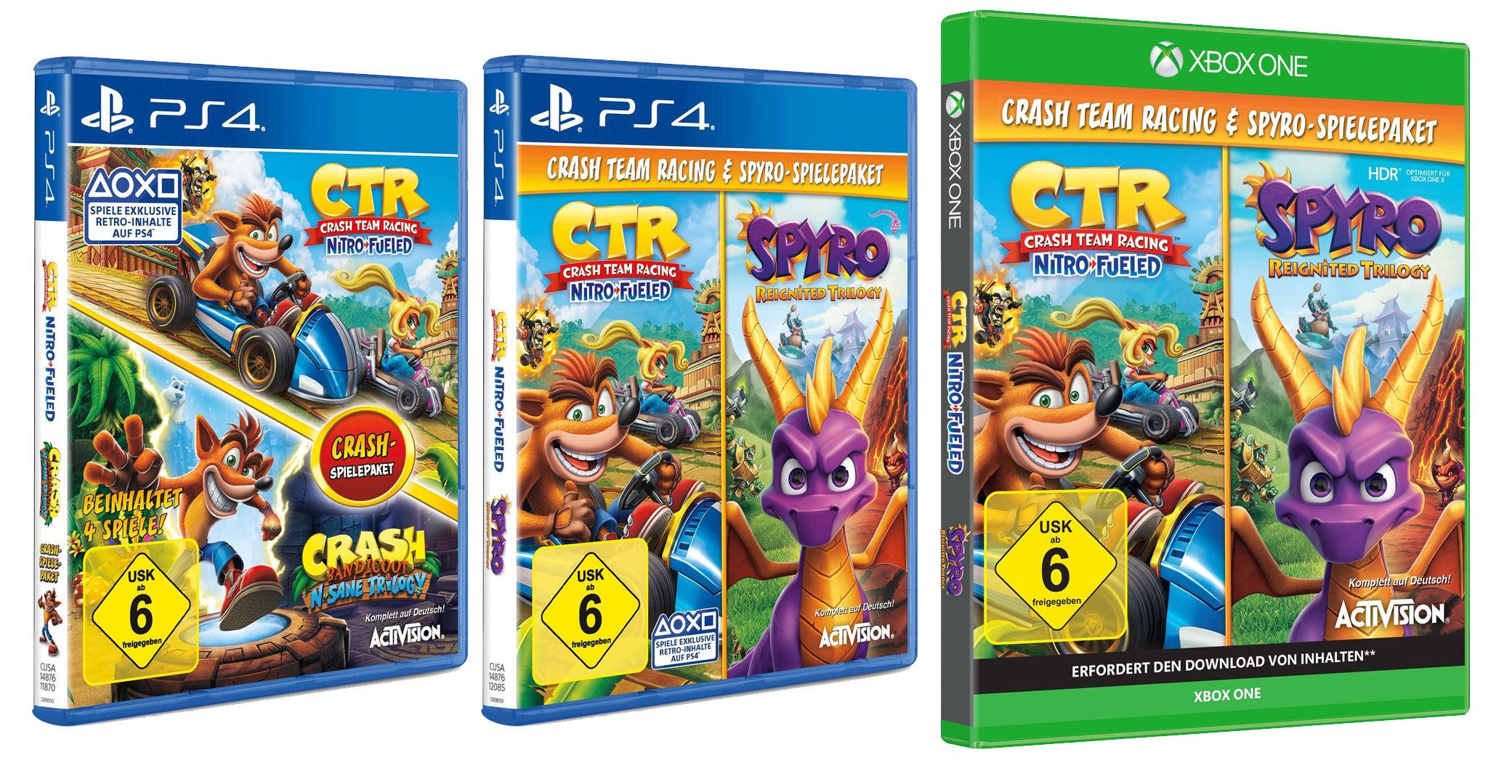 Update 2 Even More Retailers Put Up The Crash Bandicoot N Sane Trilogy Spyro Reignited Trilogy Bundles With Crash Team Racing Nitro Fueled Crashy News