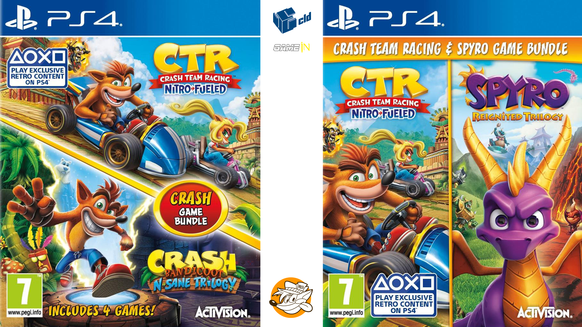 Update Cld Belgium And Gamein Netherlands Reveal Cover Arts For Crash Bandicoot N Sane Trilogy Spyro Reignited Trilogy Bundles With Crash Team Racing Nitro Fueled Coming November 8 Crashy News